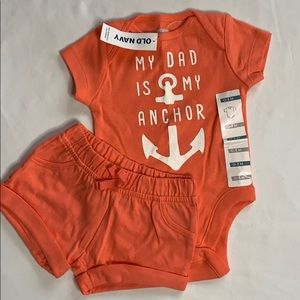 2pc short set 0-3 mo *NEW* with tags